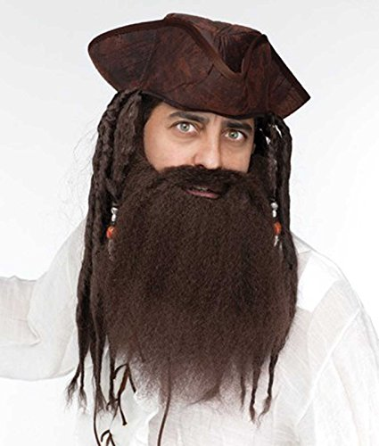 Fun World Crimped Beard Brown Costume Adult Mens