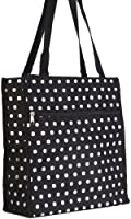 World Traveler Polka Dot Print Collection Travel Tote Bag 12-inch