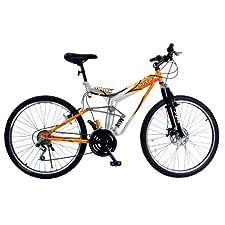 Titan Fusion Dual Suspension Mountain Bike (Orange, 26-Inch)