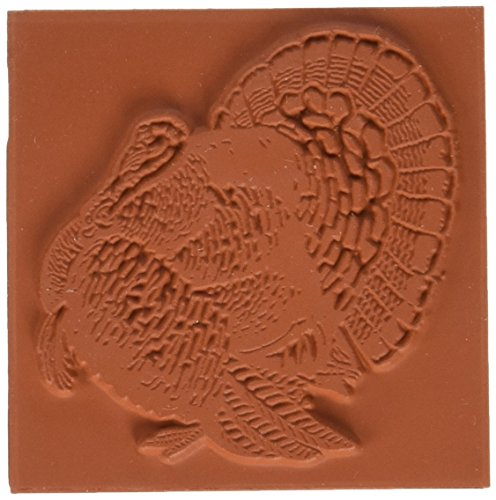 Deep Red Stamps Turkey Rubber Stamp - 1