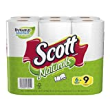 Scott Naturals Paper Towels, White, Choose-A-Size, Mega Roll (6 Rolls)