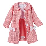 Bonnie Jean Baby-Girls Houndstooth Coat and Dress Set (4T, Coral)