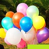 MedianField 【 7色 風船 100個 セット 】飾り付け用 パーティーグッズ (7色)