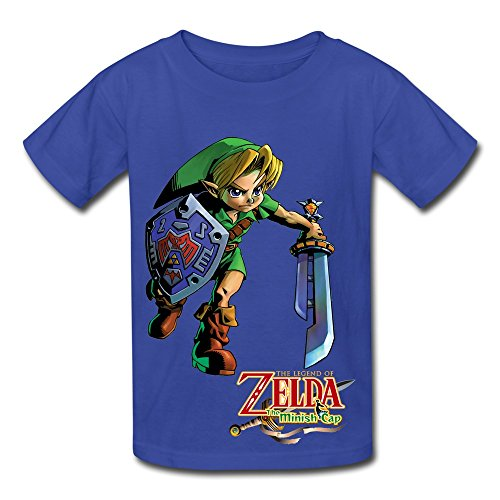 Soulya Youth's The Legend Of Zelda Skateboard Kids Boys And Girls Short Sleeves Cotton T Shirt Size M RoyalBlue (Zelda For Wi compare prices)