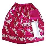 HMP Fashion Bhagalpuri Silk Machine Work Pink Semi-Stitched Bollywood Designer Lehenga Choli/partywear lehenga choli for women