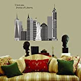 DIY Statue Of Liberty Wall Stickers Room Decoration
