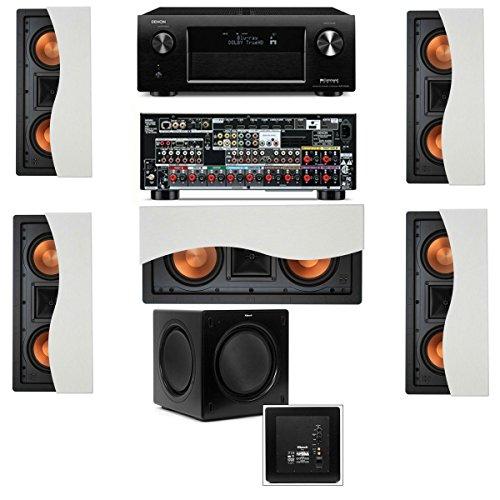 Klipsch R-5502-W Ii(5) In-Wall Speaker 5.1-Sw-310 Denon Avr-X4000