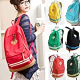 For boys girls Fashion Unisex Travel bags Backpack Canvas Leisure Bags School Bag Rucksack