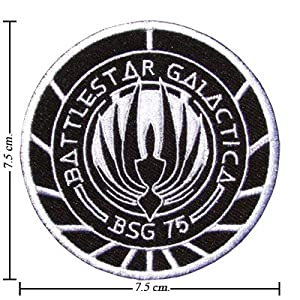 Battlestar Galactica Logo I Embroidered Sew Iron on Patches Great Gift for Dad Mom Man Woman