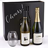 "Ste Chapelle ""Treat Yourself"" Sparkling Wine & Glass Gift Set, 2 x 750 mL"