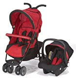 Petite Star City Bug Stroller Travel System (Red / Black)