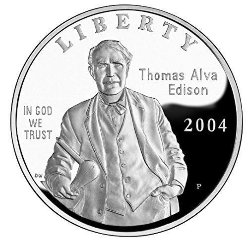 2004 Thomas Edison Commemorative Silver Dollar In Government Packaging