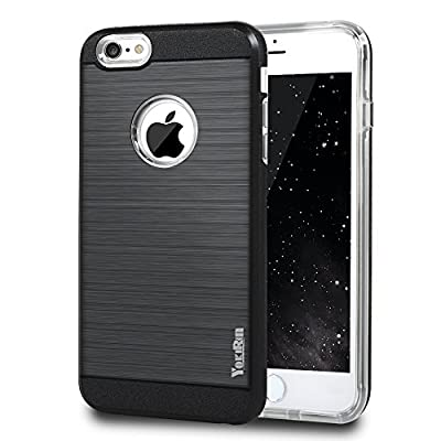6s Case, iPhone 6&6s Case - YOKIRIN 2 in 1 Design [Heavy Duty] Brushed Design Hard Plastic TPU Protective Case Bumper for iPhone 6&iPhone 6s 4.7'' from YOKIRIN