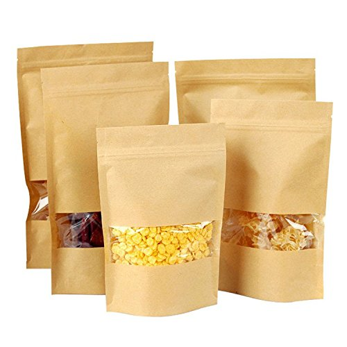 bluemoo-20pcs-self-sealing-kraft-paper-food-storage-pouches-with-transparent-window-47787-inches