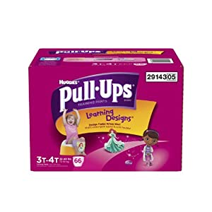 Huggies Pull-Ups Training Pants with Learning Designs for Girls, 3T-4T, 66 Count