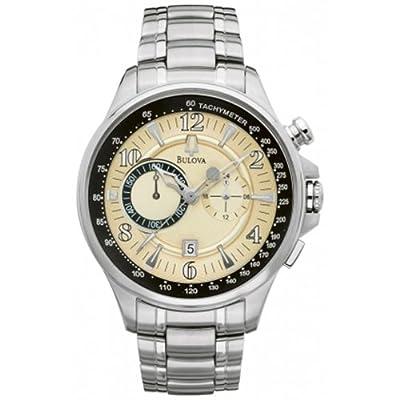 Bulova Men's Chronograph Date Stainless Steel Quartz Watch 96B140