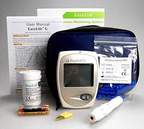 Easy Life Glycomètre/système de surveillance de la glycémie pour diabétique britannique