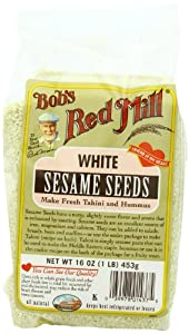Bob's Red Mill White Sesame Seeds, 16-Ounce Bags (Pack of 4)