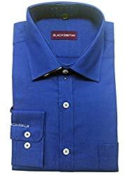 Blacksmith Men's Formal Shirt_1968096031BLSHIRTTWILL1_Azure Blue_38