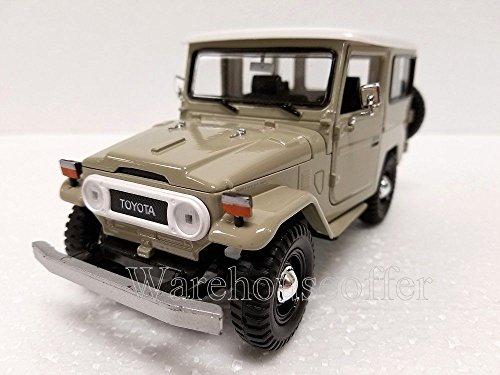 new-124-display-motor-max-american-classics-beige-toyota-fj40-diecast-model-car-by-motor-max