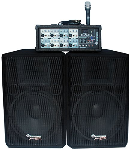 Soundtrack Pro Audio SHA-108BT -Channel PA System (Complete Pa System Package Mixer compare prices)