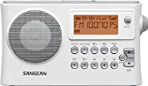 Sangean PR-D14 AM/FM-RDS Portbale Receiver with USB-White