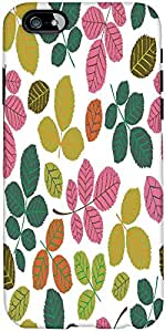 Snoogg seamless pattern with leaf Hard Back Case Cover Shield For Apple Iphone 6 S + / 6s Plus