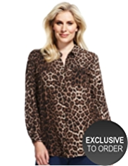 Plus Animal Print Blouse