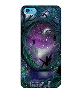 ColourCraft Heaven Garden Design Back Case Cover for APPLE IPHONE 5C