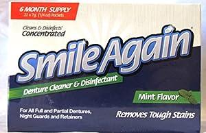 Smile Again Denture Cleaner, Mint Flavor, 7g (22 Pack)