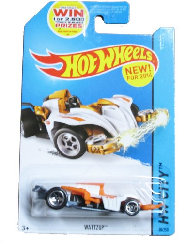 Hot Wheels, 2014 HW City, Wattzup [White/Orange] Die-Cast Vehicle #60/250 - 1