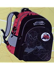 Simba 21.73 Ltrs Black And Red Children's Backpack (BTS-2078)