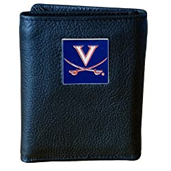 Virginia Cavaliers Genuine Leather Tri-fold Wallet