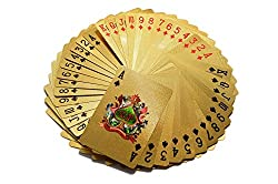 Catterpillar Accedre 24 K Gold Plated Poker Playing Cards (Gold)