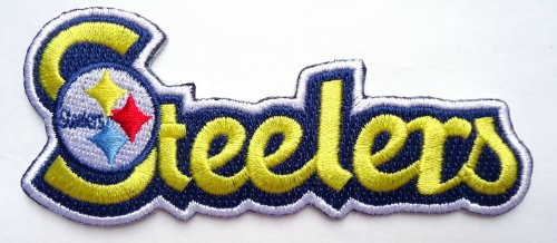 Pittsburgh NFL Steelers Script Name [4 Inches] Patch at Amazon.com