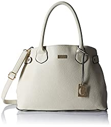 Cathy London Women's Handbag, Material- Synthetic Leather, Colour- White
