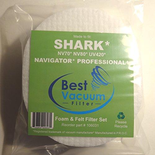 Shark Nv80 Foam Amp Felt Filter Set For Shark Navigator
