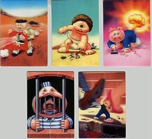 GARBAGE PAIL KIDS FLASHBACK 3 - COMPLETE 3-D MOTION Card Set - NEW SERIES!! - WITH BONUS 15th SERIES DIE-CUT STICKERS!