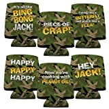 Duck Dynasty Koozie - Set of 6 - 6 Different Quotes with Duck Camouflage Background