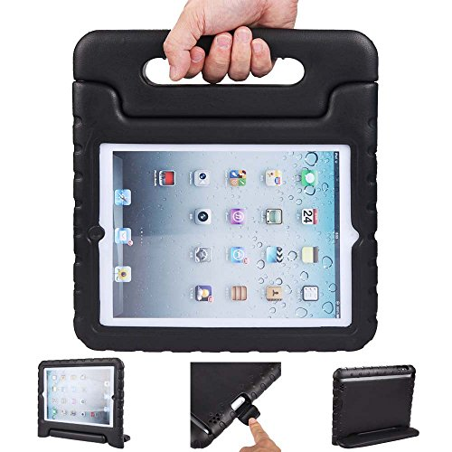 iPad air 2 case, ipad 6 case, ANTS TECH Light Weight [ Shockproof ] Cases Cover with Handle Stand for Kids Children for iPad air 2 (6) (iPad Air 2 (6), Black) (Ipad Air 2 64 Gig compare prices)