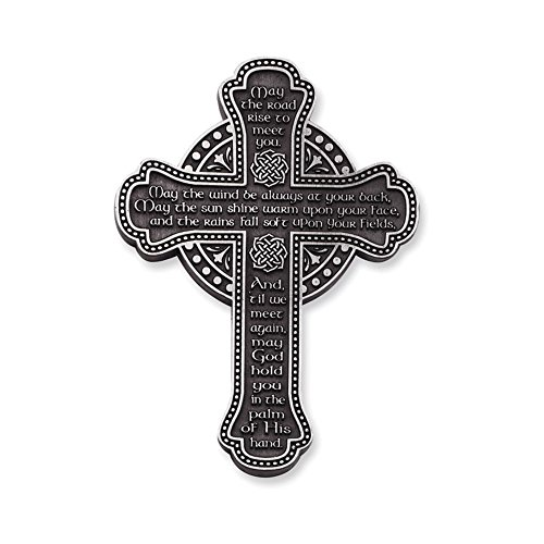Irish Blessing Pewter Finish Wall Cross