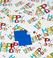 2 Bright Happy Birthday Text Sheet Wraps