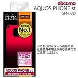 レイ・アウト docomo AQUOS PHONE st SH-07D用グラデーション・シェルジャケット/ブラック/レッドRT-SH07DC5/BR