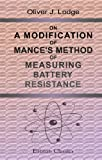 img - for On a Modification of Mance's Method of Measuring Battery Resistance book / textbook / text book