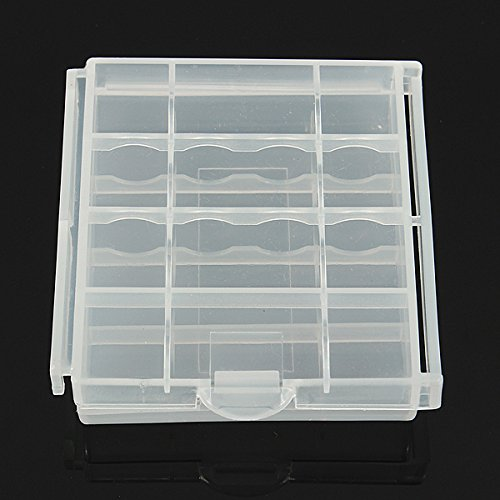 (3519-i) CLEAR PLASTIC HOLDER STORAGE BOX FOR RECHARGEABLE AA AAA NIMH