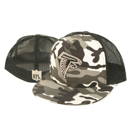 Atlanta Falcons Black/White Camouflage Trucker Style Fitted Flat Bill Baseball Hat (7 1/8) at Amazon.com
