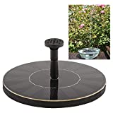 Anself Solar-power Fountain Brushless Pump Plants Watering Kit Set with Monocrystalline Solar Panel for Bird Bath Garden Pond Energy-saving Environmental-friendly Universal