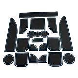 DongZhen 自動車 滑り 止め シット ドア ポケット マット 車 ランドローバー ディスカバリー 4 代目 に適切 ドリンクホルダー 収納スペース ノンスリップ マット シリコン ゴム パッド 18ピース セット