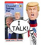 Donald Talking Pen – 8 Different Sayings – Trump's REAL VOICE – Just Click and Listen – Funny Gifts for Trump & Hillary Fans – Superior Audio Quality -Replaceable Batteries Included – Trump Pen