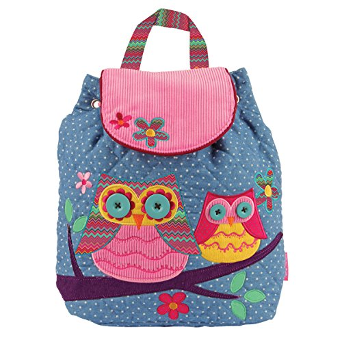 Stephen Joseph Girl'S Signature Quilted Backpack, Owl, One Size front-903538